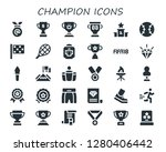 champion icon set. 30 filled... | Shutterstock .eps vector #1280406442