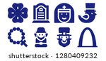 saint icon set. 8 filled saint ... | Shutterstock .eps vector #1280409232