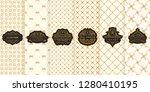 vector set of gold design...   Shutterstock .eps vector #1280410195