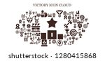 victory icon set. 93 filled... | Shutterstock .eps vector #1280415868