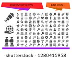 discovery icon set. 120 filled ...   Shutterstock .eps vector #1280415958
