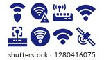 wi fi icon set. 8 filled wi fi ... | Shutterstock .eps vector #1280416075
