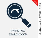 evening search icon. editable... | Shutterstock .eps vector #1280416105