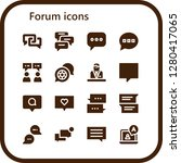 forum icon set. 16 filled... | Shutterstock .eps vector #1280417065