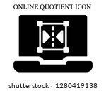 reflect search icon. editable... | Shutterstock .eps vector #1280419138