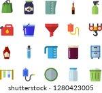 color flat icon set hook flat... | Shutterstock .eps vector #1280423005