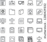 thin line icon set   passport... | Shutterstock .eps vector #1280429332