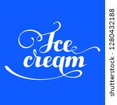 ice cream food logotype vector | Shutterstock .eps vector #1280432188
