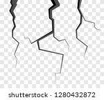 wall cracks isolated on...   Shutterstock .eps vector #1280432872