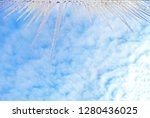 icicles hanging from the edge... | Shutterstock . vector #1280436025