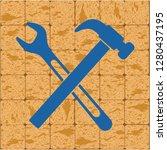 plumbing work symbol icon.... | Shutterstock .eps vector #1280437195