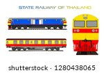thai train state railway of... | Shutterstock .eps vector #1280438065