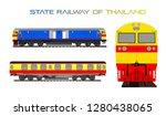thai train state railway of... | Shutterstock .eps vector #1280438065