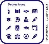 degree icon set. 16 filled... | Shutterstock .eps vector #1280441215