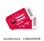 cinema ticket vector... | Shutterstock .eps vector #1280444698
