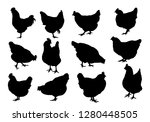 set realistic silhouettes of...   Shutterstock .eps vector #1280448505