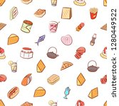 various images set. background... | Shutterstock .eps vector #1280449522