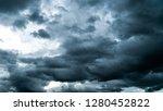 thunder storm sky Rain clouds - stock photo