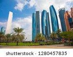 abu dhabi skyline  united arab... | Shutterstock . vector #1280457835