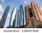 abu dhabi skyline  united arab... | Shutterstock . vector #1280457838