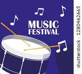 percution drum musical... | Shutterstock .eps vector #1280462665