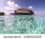 amazing water villa in the... | Shutterstock . vector #1280463205