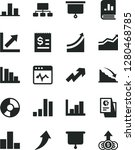 solid black vector icon set  ... | Shutterstock .eps vector #1280468785