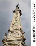 san domenico obelisk in naples... | Shutterstock . vector #1280474782