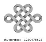 endless knot made of crossed... | Shutterstock .eps vector #1280475628