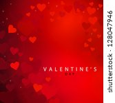 red heart  valentines day   ... | Shutterstock . vector #128047946