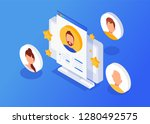 isometric interview with the... | Shutterstock .eps vector #1280492575