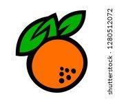 orange fruit vector cartoon   Shutterstock .eps vector #1280512072