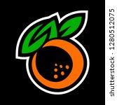 orange fruit vector cartoon   Shutterstock .eps vector #1280512075