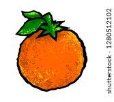orange fruit vector cartoon   Shutterstock .eps vector #1280512102