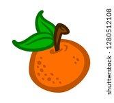 orange fruit vector cartoon   Shutterstock .eps vector #1280512108