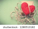 valentines day. red heart... | Shutterstock . vector #1280513182