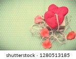 valentines day. red heart... | Shutterstock . vector #1280513185
