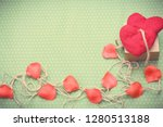 valentines day. red heart... | Shutterstock . vector #1280513188
