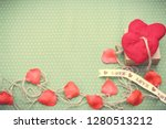 valentines day. red heart... | Shutterstock . vector #1280513212