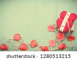 valentines day. red heart... | Shutterstock . vector #1280513215