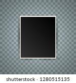 retro photo frame on white... | Shutterstock .eps vector #1280515135