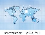 global traffic and... | Shutterstock . vector #128051918