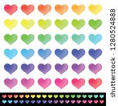 bright colorful gradient hearts ... | Shutterstock .eps vector #1280524888
