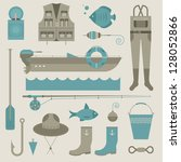 vector set of various stylized... | Shutterstock .eps vector #128052866