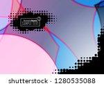 blue business banner background.... | Shutterstock .eps vector #1280535088