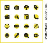 ui icons set with phone book ...