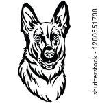 decorative portrait of dog...   Shutterstock .eps vector #1280551738