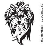 decorative portrait of dog... | Shutterstock .eps vector #1280551762