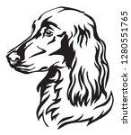 decorative portrait of dog... | Shutterstock .eps vector #1280551765