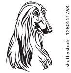 decorative portrait of dog...   Shutterstock .eps vector #1280551768